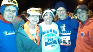 Buckeye Striders, from left to right, Steve, Pat, Deb, Jack and me.