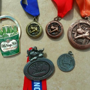 Flying pig medals
